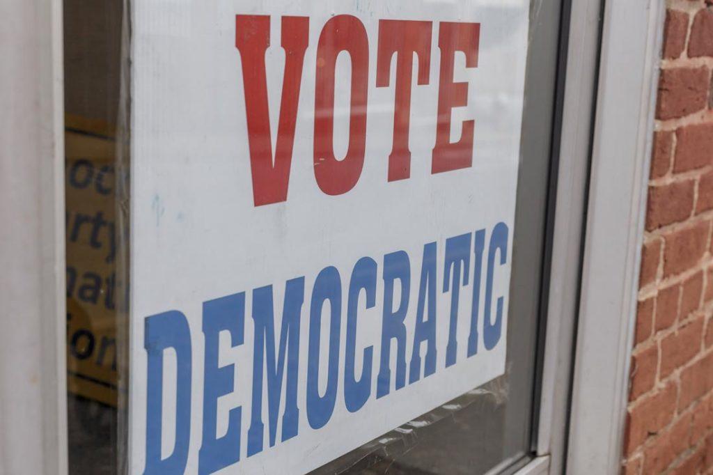 Vote Democratic sign
